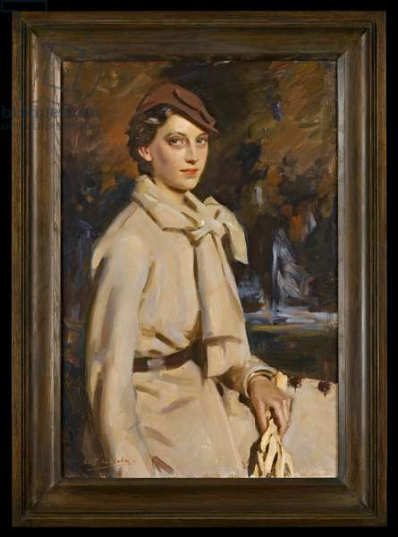 Portrait of Jane Austen in Beige, Autumn, 1930s (oil on canvas)