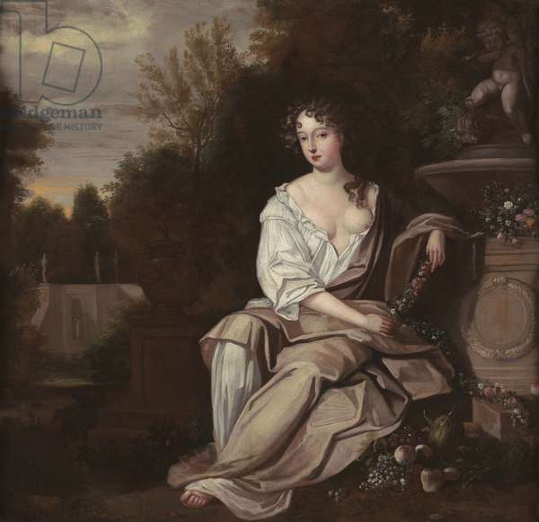 Portrait of Nell Gywn, 1670s (oil on canvas)