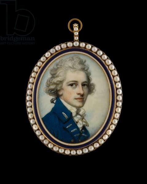Vice-Admiral Christopher Parker, c.1785 (w/c on ivory)