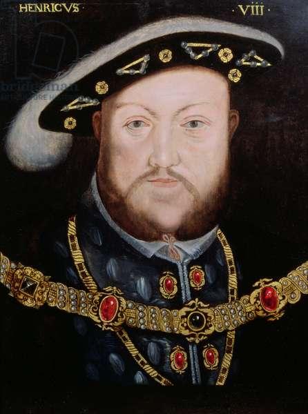 Portrait of Henry VIII (1491-1547), c.1590 (oil on panel)