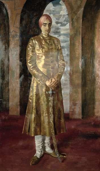 H.H. Sir Pratab Singh, Maharajah of Nabha (1919-95), 1940 (oil on canvas)