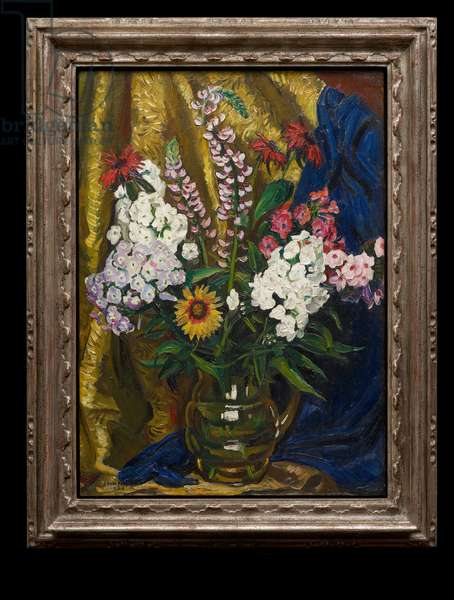 Still Life of Phlox and Lupins, 1924 (oil on canvas)