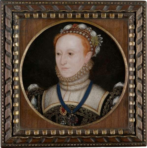 Portrait of Queen Elizabeth I, 1560s (oil on circular oak panel)