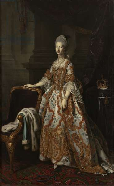 Portrait of Queen Charlotte of Mecklenburg-Strelitz (oil on canvas)