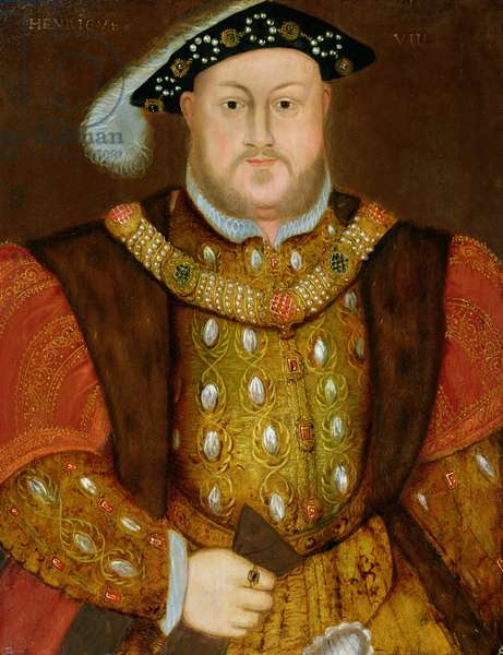 Portrait of King Henry VIII (1491-1547) (oil on panel)