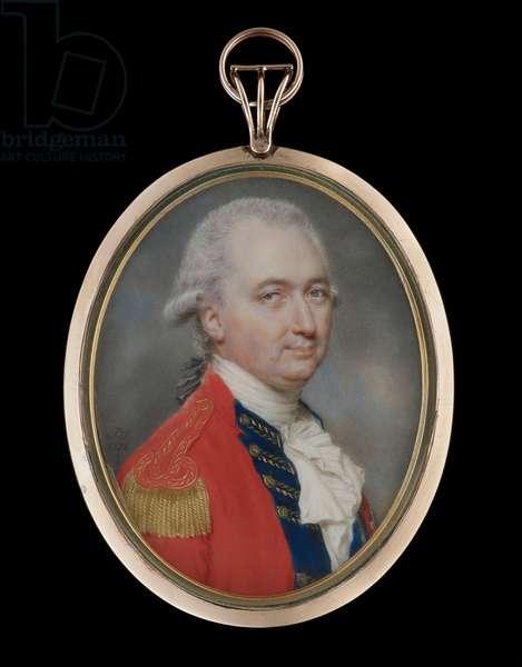 Portrait miniature of Charles Cornwallis, 1stMarquess Cornwallis, 1786 (w/c on ivory)