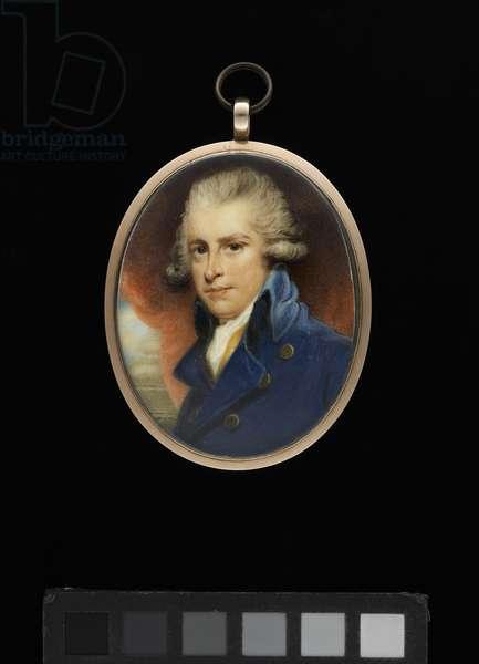 Portrait of Richard Brinsley Sheridan (w/c on ivory)