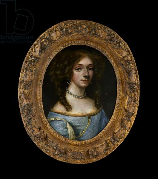 Portrait miniature of an Unknown Lady, 1670s (oil on copper)