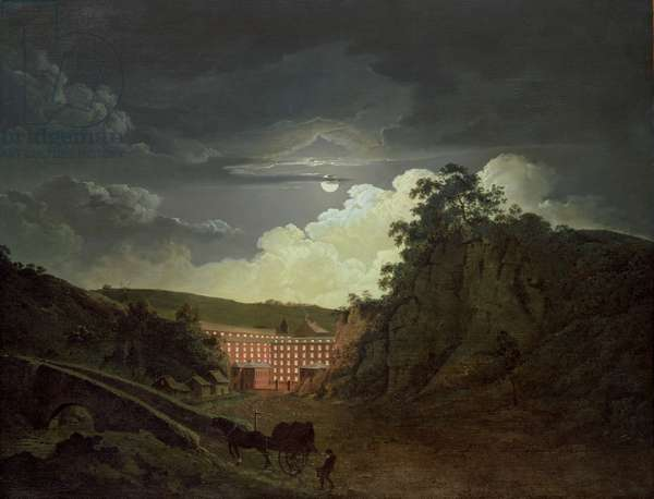 Arkwright's Cotton Mills, 1790s (oil on canvas)