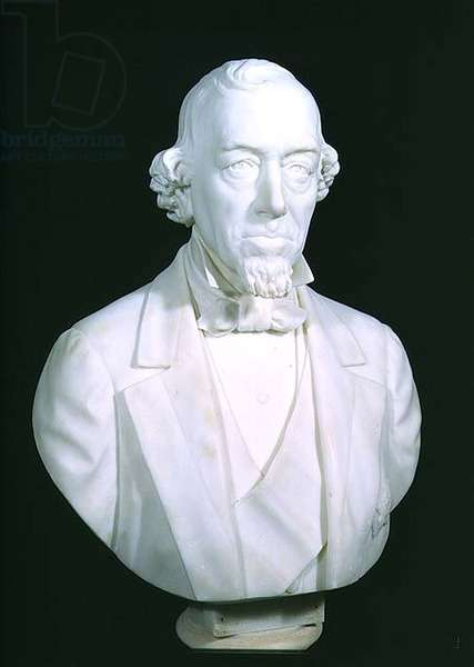 Bust of Benjamin Disraeli, 1st Earl of Beaconsfield (1804-81) 1880 (marble) (see also 115130)