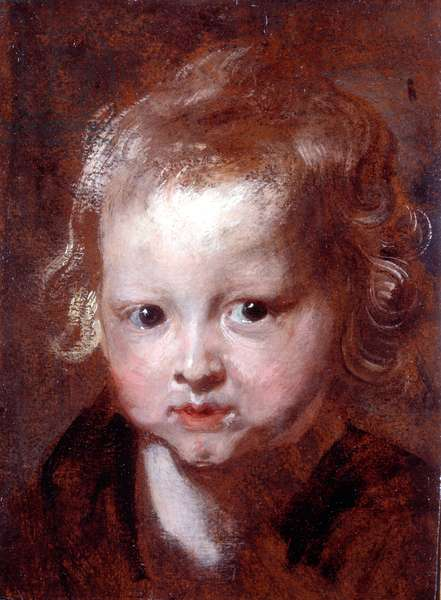 Study for 'Suffer the Little Children', 1618-20/1 (oil on paper laid onto panel)