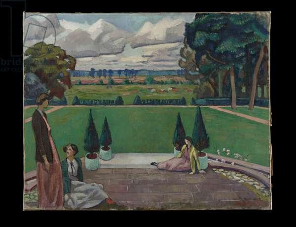 A Group at Newington House, 1919 (oil on canvas)