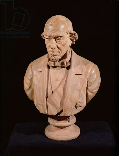 Portrait Bust of Benjamin Disraeli, 1st Earl of Beaconsfield (1804-81), c.1880 (terracotta) (see also 83919)
