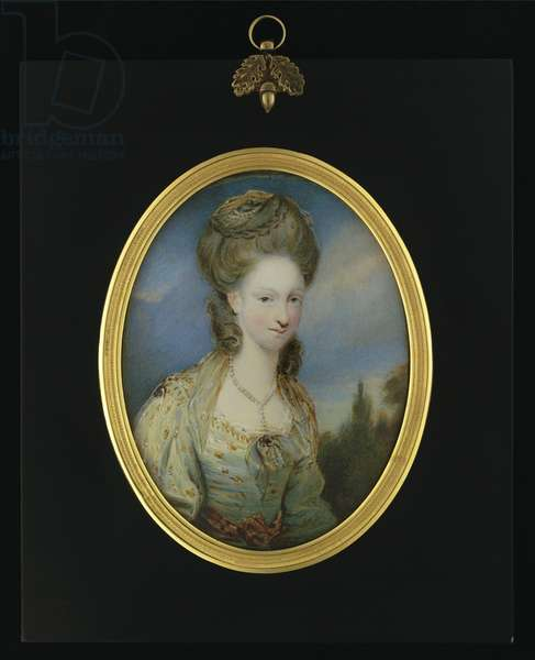 Portrait of Elizabeth Moffat, Lady Mills (w/c on ivory)
