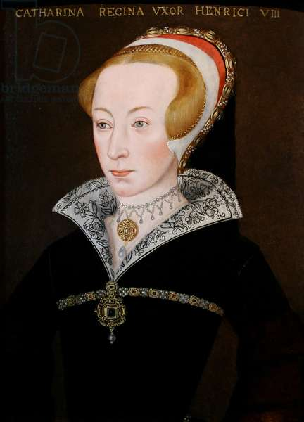 Portrait of Katherine Parr, Queen of England (oil on panel)
