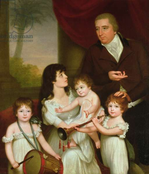 Portrait of William Fairlie and his Family, 1802 (oil on canvas)