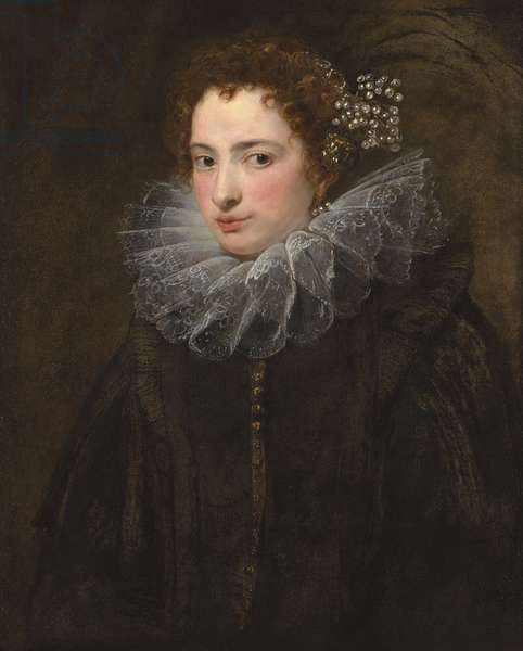 Portrait of a Lady in a Black Dress, c.1625 (oil on canvas)