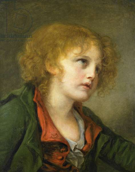 Portrait of a young boy (oil on canvas)
