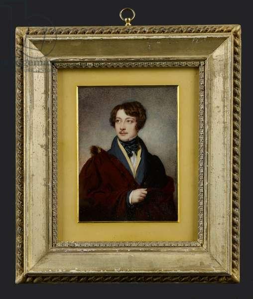 Portrait minature of Captain James Ogilvy Fairlie of Coodham, Ayrshire (1809-1870) 1827