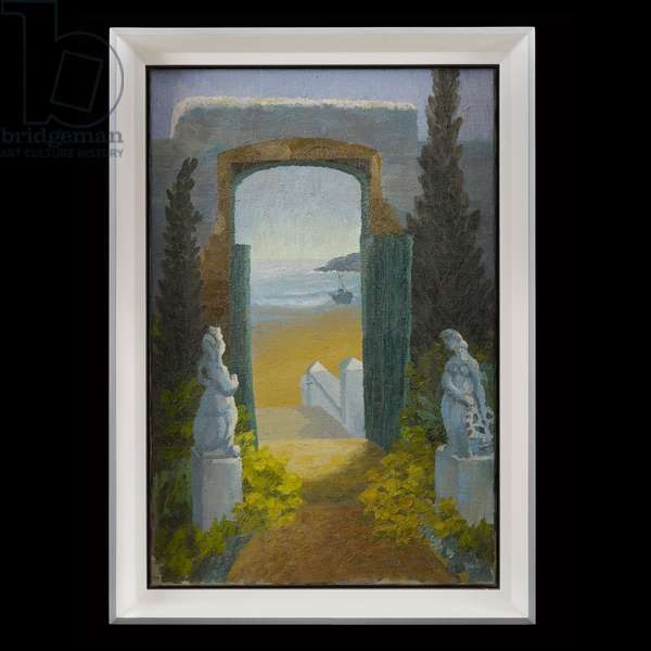 View through an Arch to the Beach Beyond, 1964 (oil on canvas)