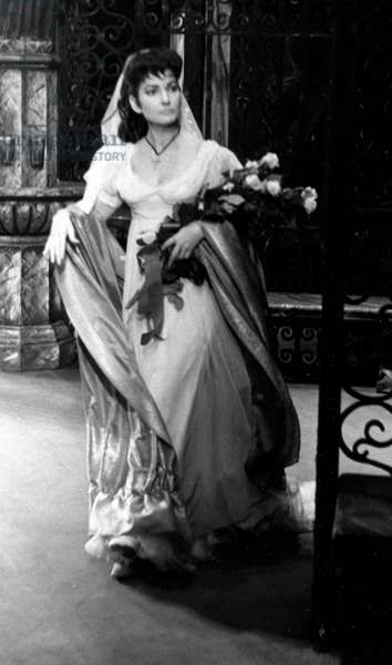 Maria Callas in Tosca, opera in three acts by Giacomo Puccini