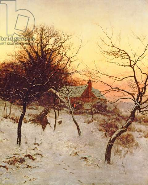 The approach of a Winter's night, 1892 (oil on canvas)