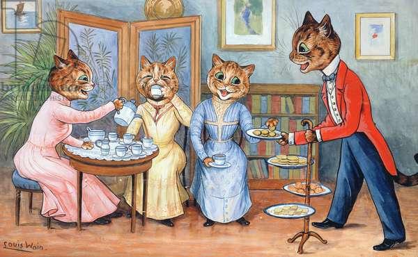 Tea Time! (w/c & gouache on paper)