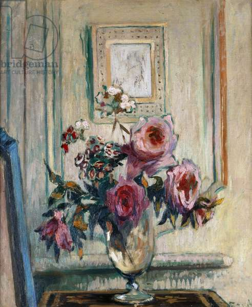 Still Life with Roses (oil on canvas)
