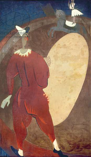 Clown in red, wall panel from Restaurant Boulestin (mural)