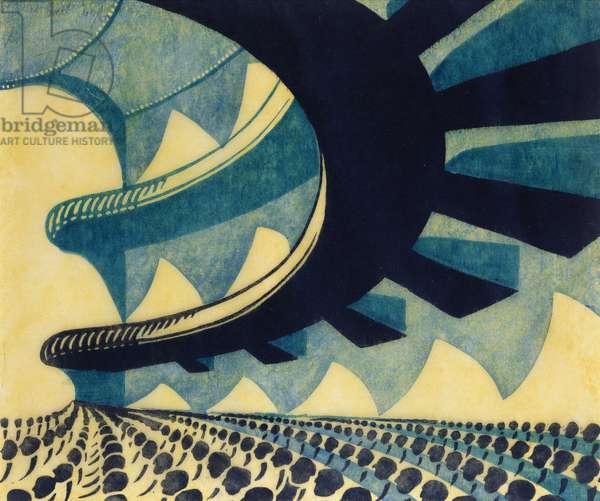 Concert Hall, 1929 (linocut)