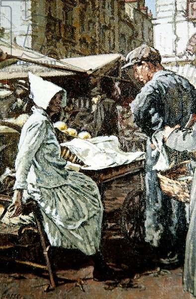 The Vegetable Market, Dieppe, c.1923 (oil on canvas)