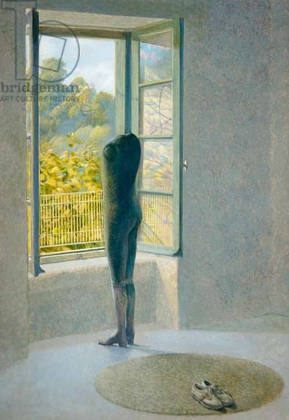 Viewing the Park, 1995 (egg tempera on panel)
