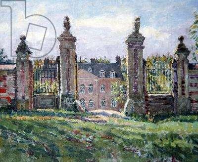 The Chateau Sauchay la Haut, near Dieppe (oil on canvas)