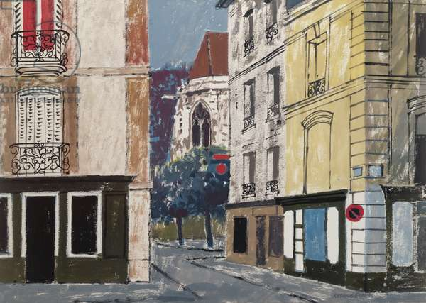 Dieppe (gouache on paper)