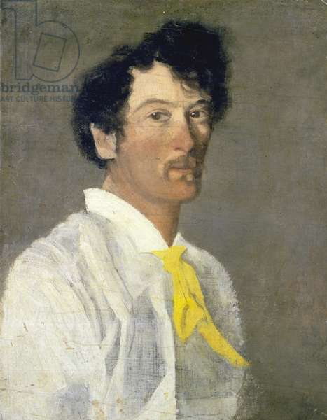 Whistler in a Yellow Cravat (oil on canvas)