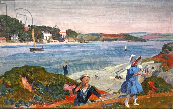 Late Sunlight, Barmouth Estuary, 1913 (oil on board laid on panel)