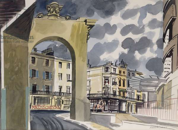 Motcomb Street, 1962 (gouache on paper)