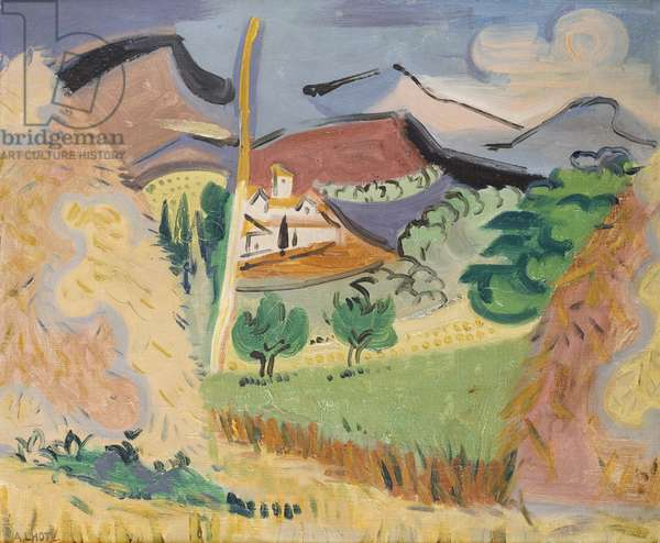 Summer Landscape in Provence, c.1925 (oil on canvas)