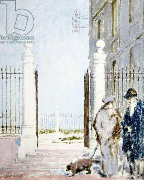 Dieppe, Gossips, c.1920 (oil on canvas)