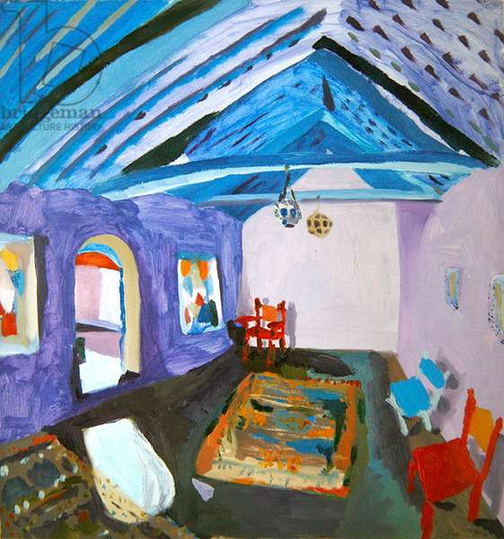 Chaouen Interior, 1994 (oil on paper)