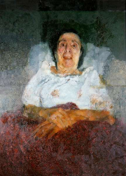 Muriel Belcher Ill in Bed, 1978-80 (oil on canvas)