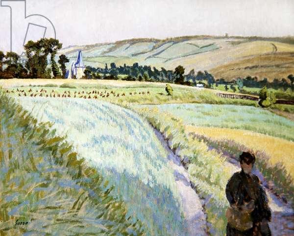 Sauchay la Haut (oil on canvas)
