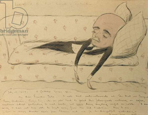 Self Portrait, 16th July 1923 (w/c on paper)