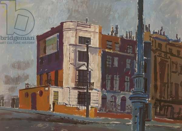 Sickert's House, Mornington Crescent, 1949 (gouache on paper)