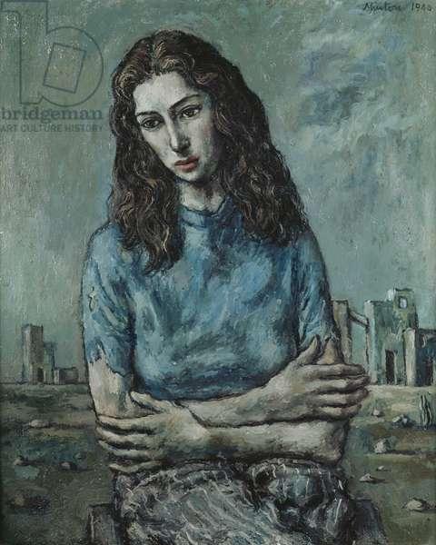 Portrait of Myra Davis, 1940 (oil on canvas)