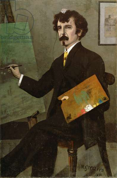 Portrait of Whistler at his Easel, 1876 (oil on canvas)