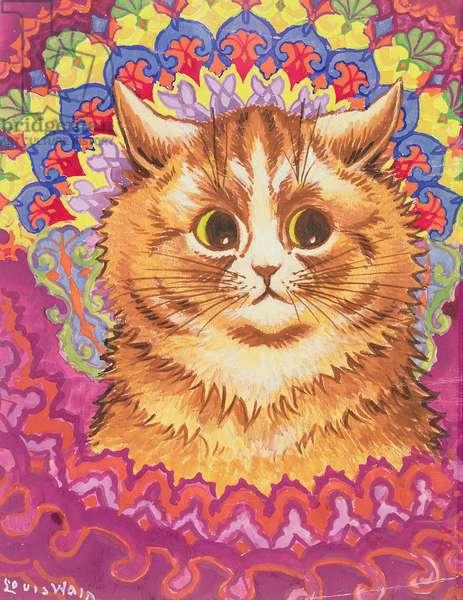 A Psychotic Cat (w/c on paper)