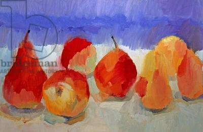 Still Life with Pears, 1997 (oil on paper)