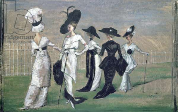 Ascot, costume designs for 'My Fair Lady' (oil on canvas)