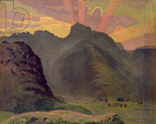 Scottish Landscape (oil on board)